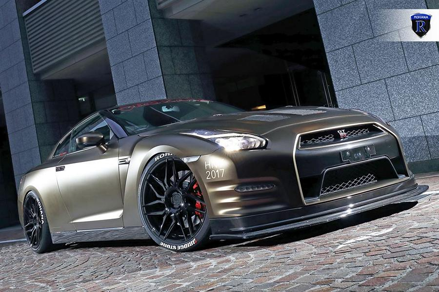 Rohana Rfx7 Wheels On The Nissan Gt R With Carbon Bodykit