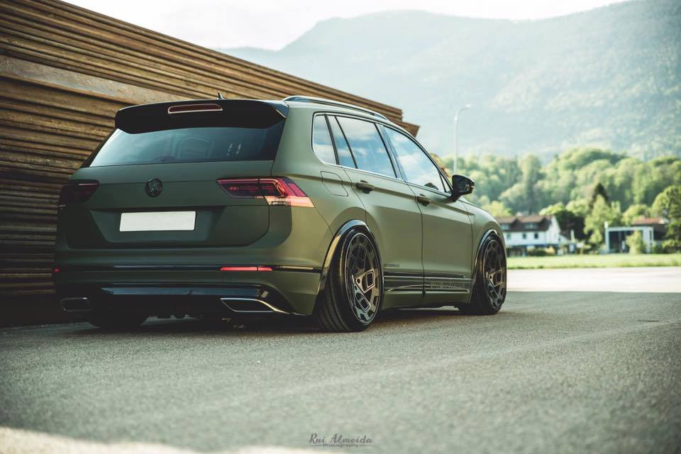 deep vw tiguan in matt green on radi8 r8cm9 rims. Black Bedroom Furniture Sets. Home Design Ideas