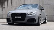 Widebody Audi RS3 8P Tuning Vossen VWS1 1 190x107 Perfekt   Audi RS3 Widebody auf Vossen Wheels by cartech