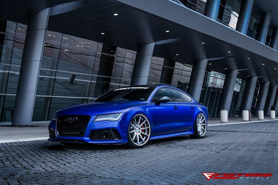 Audi Rs7 Sportback In Matt Blue On Ferrada Fr4 Rims