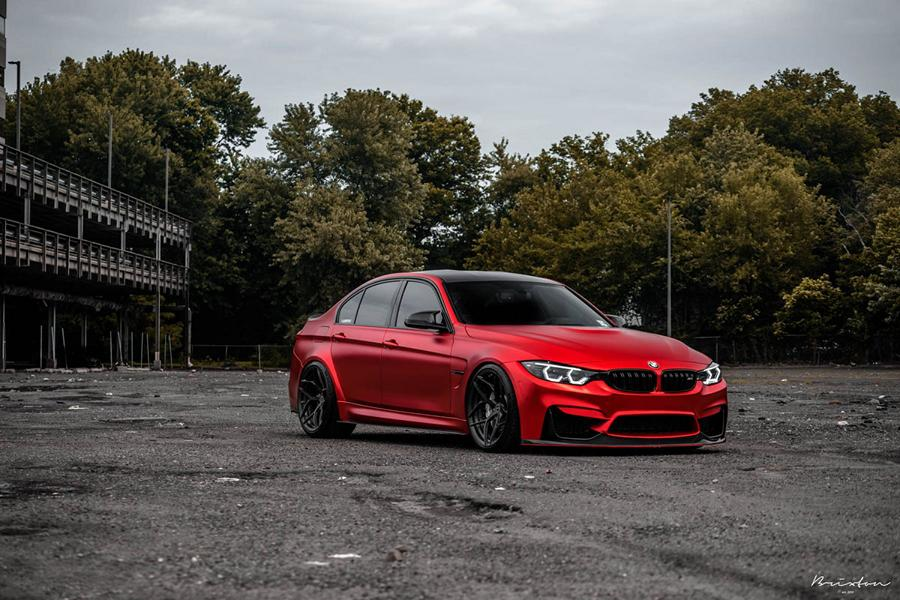 BMW F80 M3 Satin Red Brixton PF5 Felgen Tuning 11 Neu   BMW F80 M3 in Satin Red nun auf Brixton PF5 Felgen