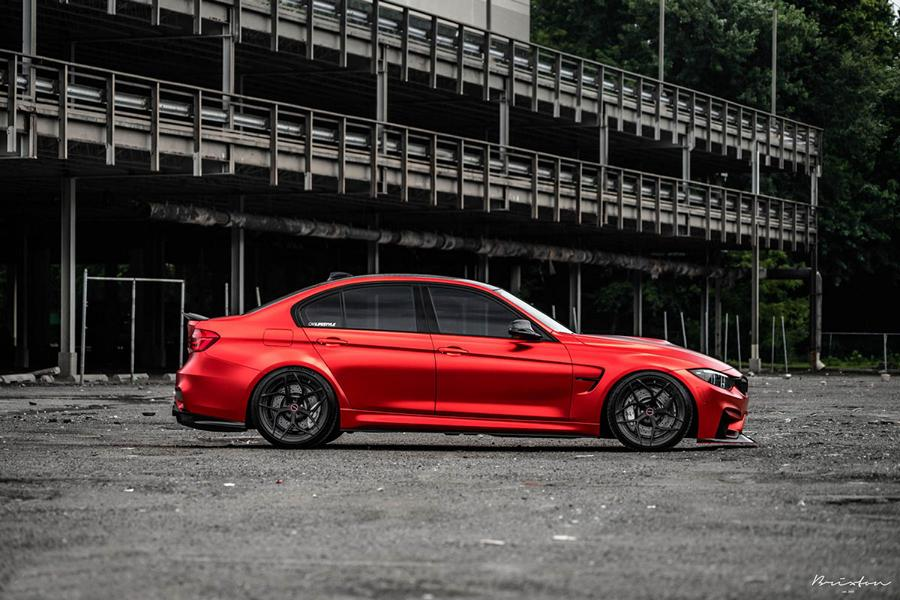 BMW F80 M3 Satin Red Brixton PF5 Felgen Tuning 12 Neu   BMW F80 M3 in Satin Red nun auf Brixton PF5 Felgen
