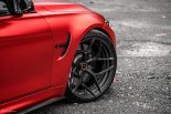 BMW F80 M3 Satin Red Brixton PF5 Felgen Tuning 17 155x103 Neu   BMW F80 M3 in Satin Red nun auf Brixton PF5 Felgen
