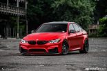 BMW F80 M3 Satin Red Brixton PF5 Felgen Tuning 2 155x103 Neu   BMW F80 M3 in Satin Red nun auf Brixton PF5 Felgen