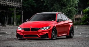 BMW F80 M3 Satin Red Brixton PF5 Felgen Tuning 2 310x165 Neu   BMW F80 M3 in Satin Red nun auf Brixton PF5 Felgen