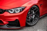 BMW F80 M3 Satin Red Brixton PF5 Felgen Tuning 5 155x103 Neu   BMW F80 M3 in Satin Red nun auf Brixton PF5 Felgen