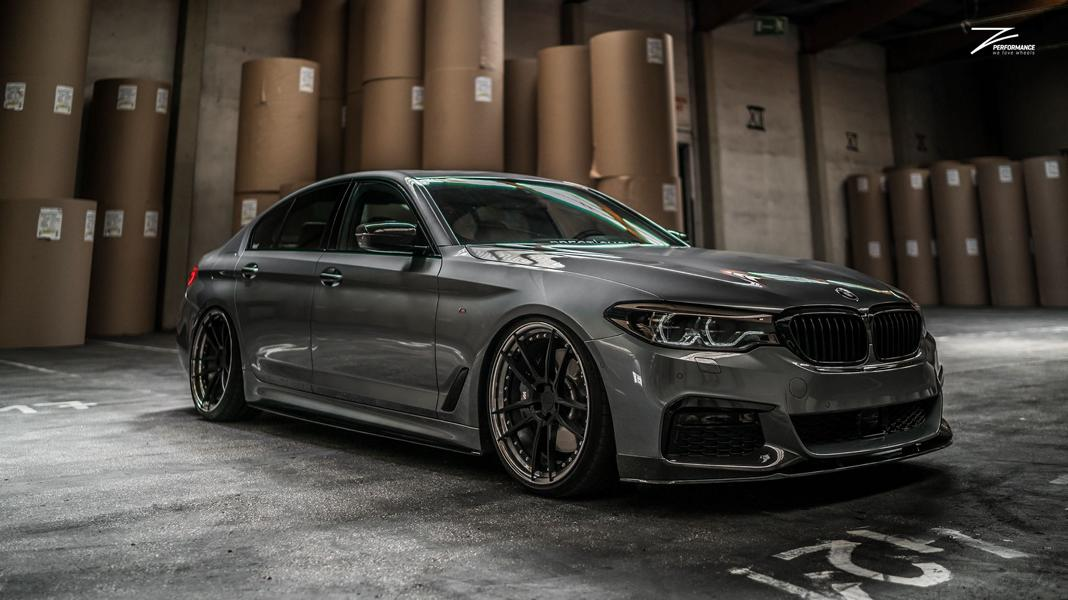 decent bmw g30 540i 5er on z performance wheels. Black Bedroom Furniture Sets. Home Design Ideas