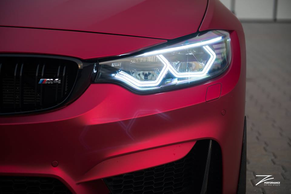BMW M4 F82 Coupe Mattrot ZP.5 Tuning 1 Traumhaft   BMW M4 F82 Coupe in Mattrot auf ZP.5 Alu's