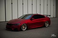 BMW M4 F82 Coupe Mattrot ZP.5 Tuning 3 190x127 Traumhaft   BMW M4 F82 Coupe in Mattrot auf ZP.5 Alu's