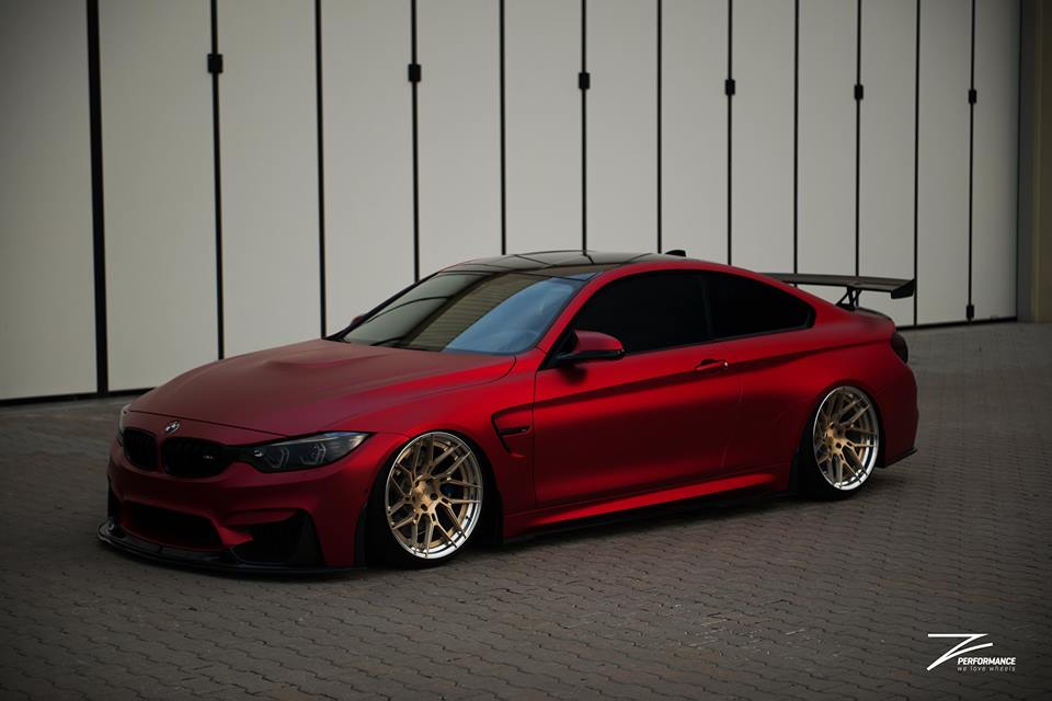 BMW M4 F82 Coupe Mattrot ZP.5 Tuning 3 Traumhaft   BMW M4 F82 Coupe in Mattrot auf ZP.5 Alu's