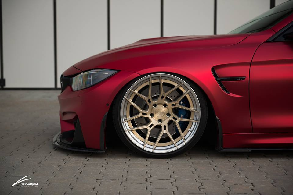BMW M4 F82 Coupe Mattrot ZP.5 Tuning 4 Traumhaft   BMW M4 F82 Coupe in Mattrot auf ZP.5 Alu's