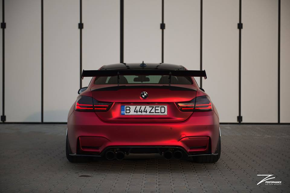 BMW M4 F82 Coupe Mattrot ZP.5 Tuning 7 Traumhaft   BMW M4 F82 Coupe in Mattrot auf ZP.5 Alu's