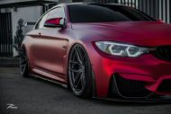BMW M4 F82 Coupe Mattrot ZP2.1 Tuning 6 190x127 Traumhaft   BMW M4 F82 Coupe in Mattrot auf ZP.5 Alu's