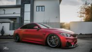 BMW M4 F82 Coupe Mattrot ZP2.1 Tuning 7 190x107 Traumhaft   BMW M4 F82 Coupe in Mattrot auf ZP.5 Alu's