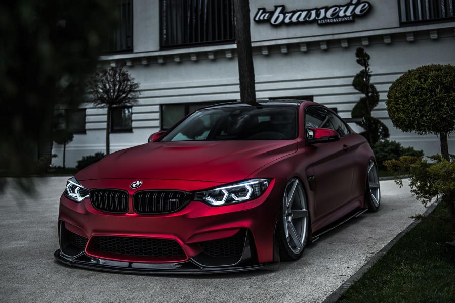 BMW M4 F82 ZP6.1 Z Performance Wheels Tuning Satin Red 2 Traumhaft   BMW M4 F82 Coupe in Mattrot auf ZP.5 Alu's