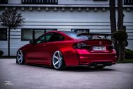 BMW M4 F82 ZP6.1 Z Performance Wheels Tuning Satin Red 4 190x127 Traumhaft   BMW M4 F82 Coupe in Mattrot auf ZP.5 Alu's