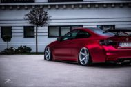 BMW M4 F82 ZP6.1 Z Performance Wheels Tuning Satin Red 5 190x127 Traumhaft   BMW M4 F82 Coupe in Mattrot auf ZP.5 Alu's