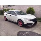 Honda Civic Type R Widebody Kit Tuning MK8 22 135x135 Spaciger Japaner Honda Civic Type R mit Widebody Kit