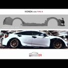 Honda Civic Type R Widebody Kit Tuning MK8 26 135x135 Spaciger Japaner Honda Civic Type R mit Widebody Kit
