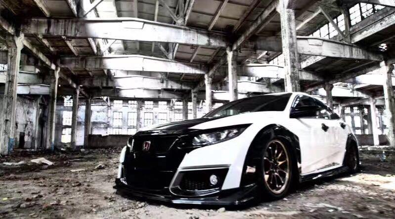 Honda Civic Type R Widebody Kit Tuning MK8 38 Spaciger Japaner Honda Civic Type R mit Widebody Kit