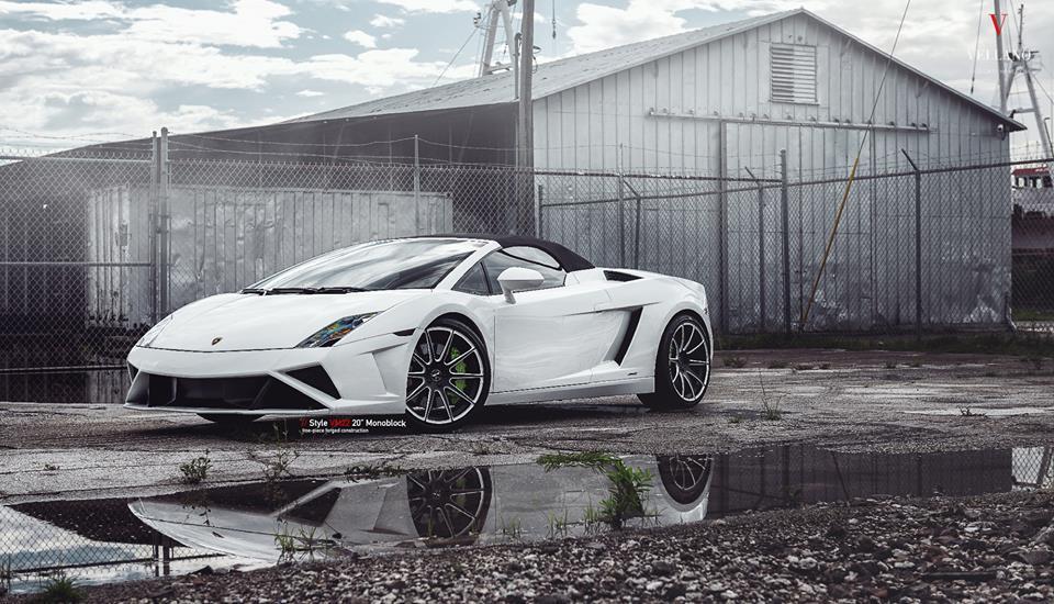 Lamborghini Gallardo LP 560 4 Vellano VM22 Felgen Tuning 1 Weißer Lamborghini Gallardo auf Vellano VM22 Felgen