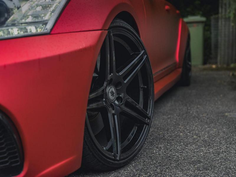 Mercedes S63 AMG W221 Mattrot Tuning 1 Fettes Teil   Carrotec Mercedes S63 AMG Widebody (W221)