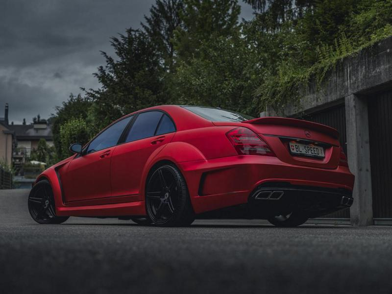 Mercedes S63 AMG W221 Mattrot Tuning 11 Fettes Teil   Carrotec Mercedes S63 AMG Widebody (W221)