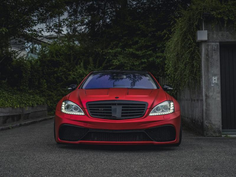 Mercedes S63 AMG W221 Mattrot Tuning 12 Fettes Teil   Carrotec Mercedes S63 AMG Widebody (W221)