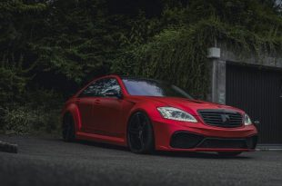 Mercedes S63 AMG W221 Mattrot Tuning 13 310x205 Fettes Teil   Carrotec Mercedes S63 AMG Widebody (W221)