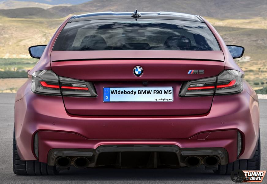 Widebody BMW M5 Edition F90 Frozen Dark Red Erster Versuch   Widebody BMW F90 M5 by tuningblog.eu