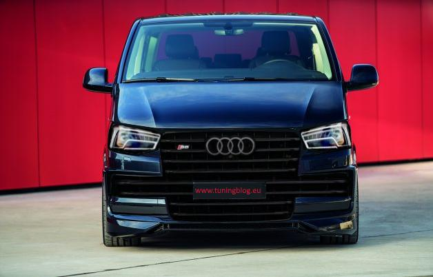 rendering abt sportsline vw t6 multivan with audi front magazine. Black Bedroom Furniture Sets. Home Design Ideas