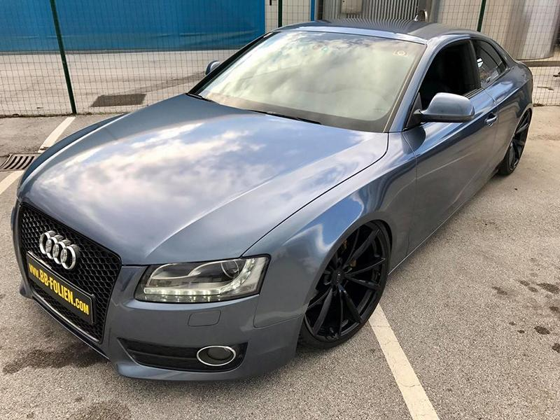 Audi A5 Coupe Mystic Sparkling Blue Tuning 10 Die Alternative   BB Folien Audi A5 Coupe in Mystic Sparkling Blue