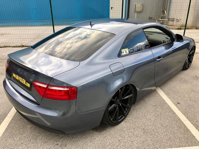 Audi A5 Coupe Mystic Sparkling Blue Tuning 5 Die Alternative   BB Folien Audi A5 Coupe in Mystic Sparkling Blue