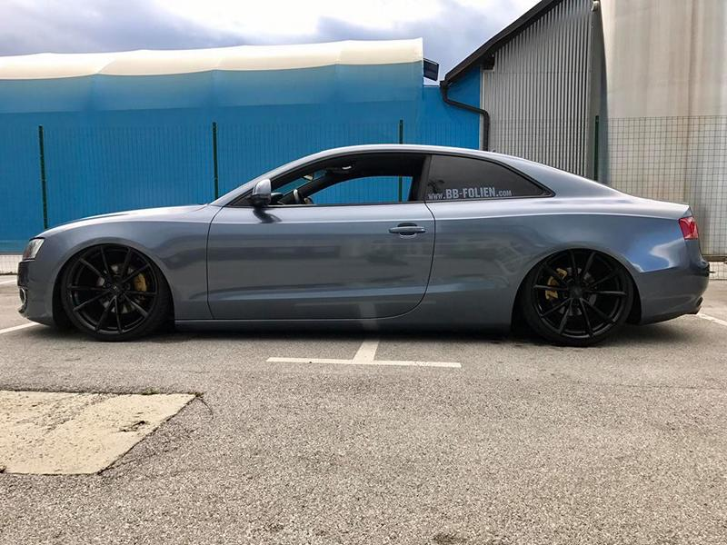 Audi A5 Coupe Mystic Sparkling Blue Tuning 6 Die Alternative   BB Folien Audi A5 Coupe in Mystic Sparkling Blue