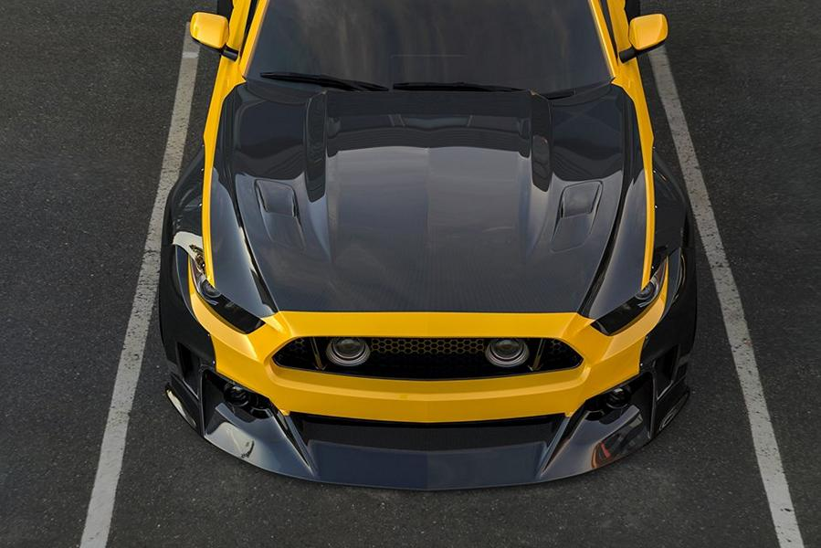 Clinched Carbon Widebody Ford Mustang GT Tuning 2017 8 Mehr geht nicht   Clinched Widebody Ford Mustang GT