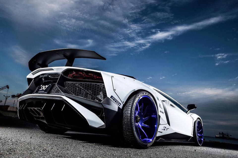 Liberty Walk Lamborghini Aventador LP750 SV Widebody Tuning 2 WTF   Liberty Walk Widebody Lamborghini Aventador LP750 SV