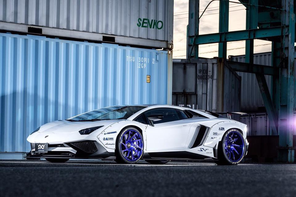 Liberty Walk Lamborghini Aventador LP750 SV Widebody Tuning 3 WTF   Liberty Walk Widebody Lamborghini Aventador LP750 SV