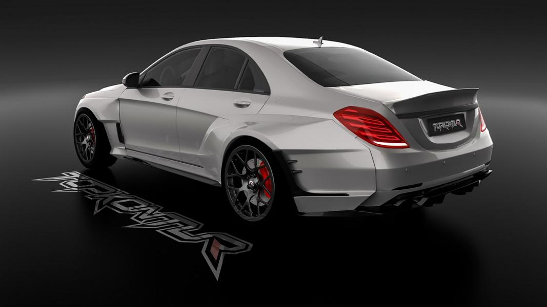 Mercedes Benz S Klasse W222 Widebody Tuning 7 Edel & Fett   Mercedes Benz S Klasse mit Widebody Kit