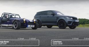 Range Rover Sport SVR vs. Caterham 360R Drag Race 310x165 Video: Range Rover Sport SVR vs. Caterham 360R Drag Race