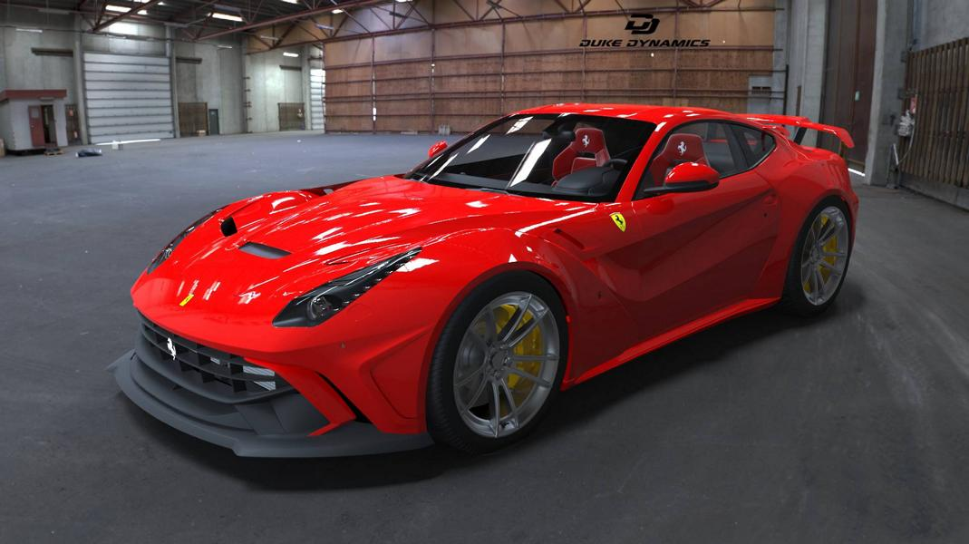 Widebody Ferrari F12 berlinetta Rendering Duke Dynamics 12 Duke Dynamics   Widebody Ferrari F12 berlinetta Rendering
