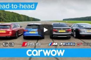 BMW M760Li vs Tesla Model S vs Audi RS 6 vs Mercedes AMG Estate 310x205 Video: BMW M760Li / Tesla Model S / Audi RS 6 / Mercedes E63 AMG