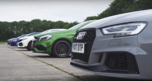 Dragrace RS3 Civic Type R Golf R A45 Focus RS 6 310x165 Video: Dragrace RS3, Civic Type R, Golf R, A45, & Focus RS