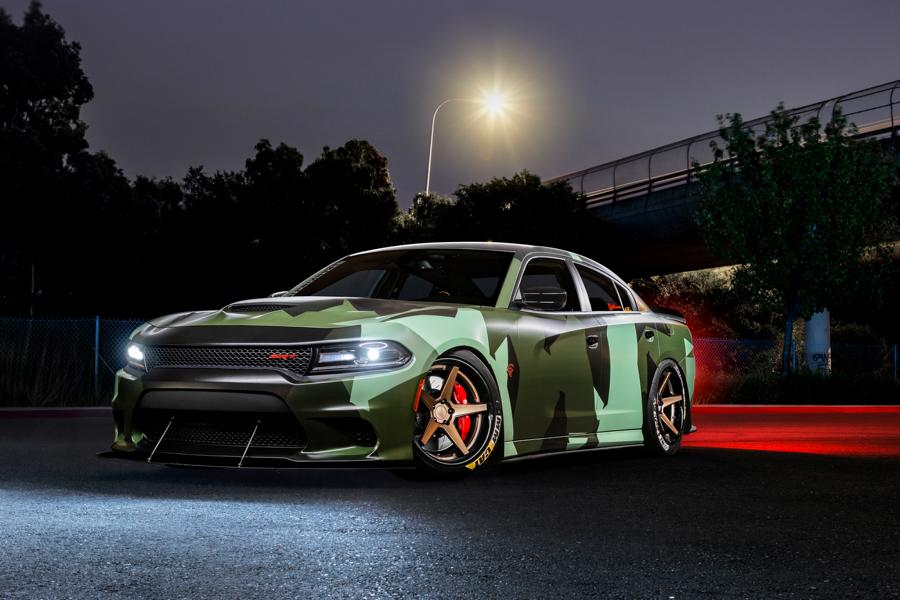 Ferrada Wheels Camouflage Dodge Hellcat Charger Tuning 1 Ferrada Wheels & Camo Look am Dodge Hellcat Charger