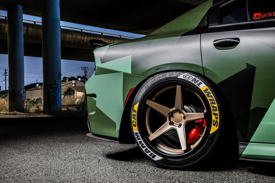 Ferrada Wheels Camouflage Dodge Hellcat Charger Tuning 2 Ferrada Wheels & Camo Look am Dodge Hellcat Charger
