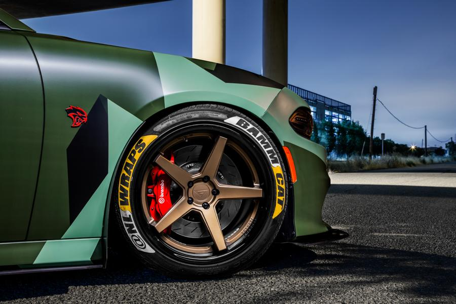 Ferrada Wheels Camouflage Dodge Hellcat Charger Tuning 3 Ferrada Wheels & Camo Look am Dodge Hellcat Charger