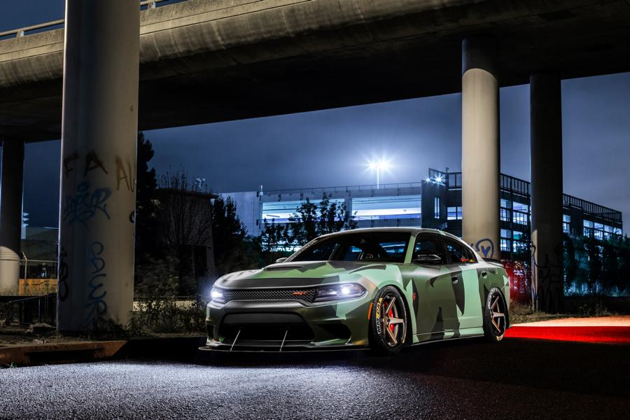 Ferrada Wheels Camouflage Dodge Hellcat Charger Tuning 6 Ferrada Wheels & Camo Look am Dodge Hellcat Charger