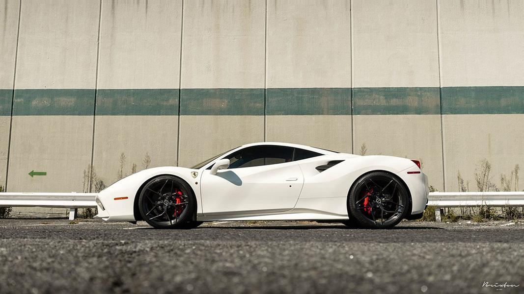 Ferrari 488 GTB Brixton Forged PF5 Wheels 1 Weißer Ferrari 488 GTB auf Brixton Forged PF5 Wheels