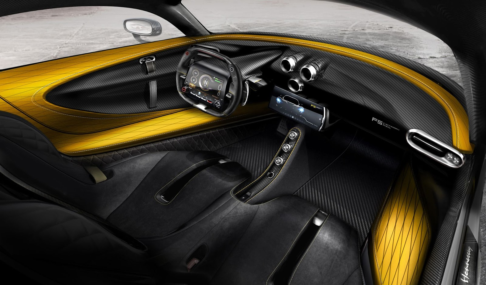 Hennessey carbon fiber interieur venom f5 tuning 4 for Carbon interieur