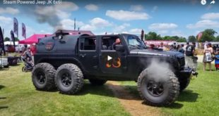Loco Hauk 6 Rad Steam Powered Jeep Wrangler 310x165 Video: Loco Hauk   6 Rad Steam Powered Jeep Wrangler