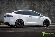 Pearl White Tesla Model X MX5 Tuning 3 190x127 Pearl White lackiertes Tesla Model X auf 22 Zoll MX5 Felgen